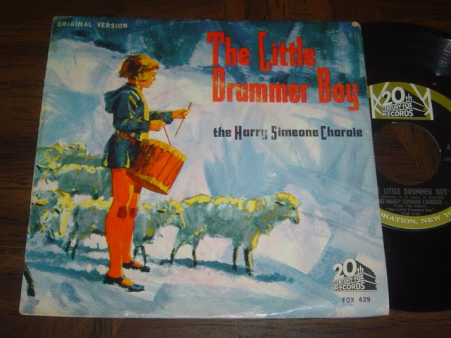 """Harry Simeone Chorale: """"The Little Drummer Boy"""" - '63 release with PS - both EX!"""