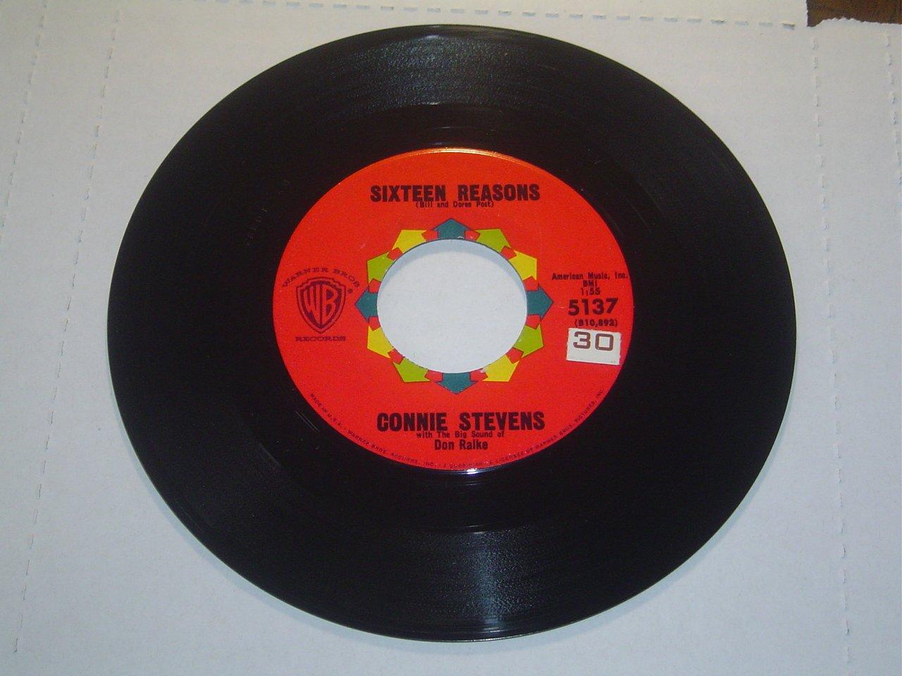 "Connie Stevens: ""Sixteen Reasons"" / ""Little Sister"" - '60 Teener - nice - pl NM!"