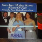 """Abba: """"Does Your Mother Know"""" / """"Kisses Of Fire"""" - NM with near NM Pic Sleeve!"""