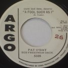 "Pat O'Day: ""A Fool Such As I"" / ""Growing Love - rare '59 Pop DJ - plays well!"