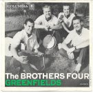 "Picture Sleeve ONLY: The Brothers Four: ""Greenfields"" - from '60 - nice!"