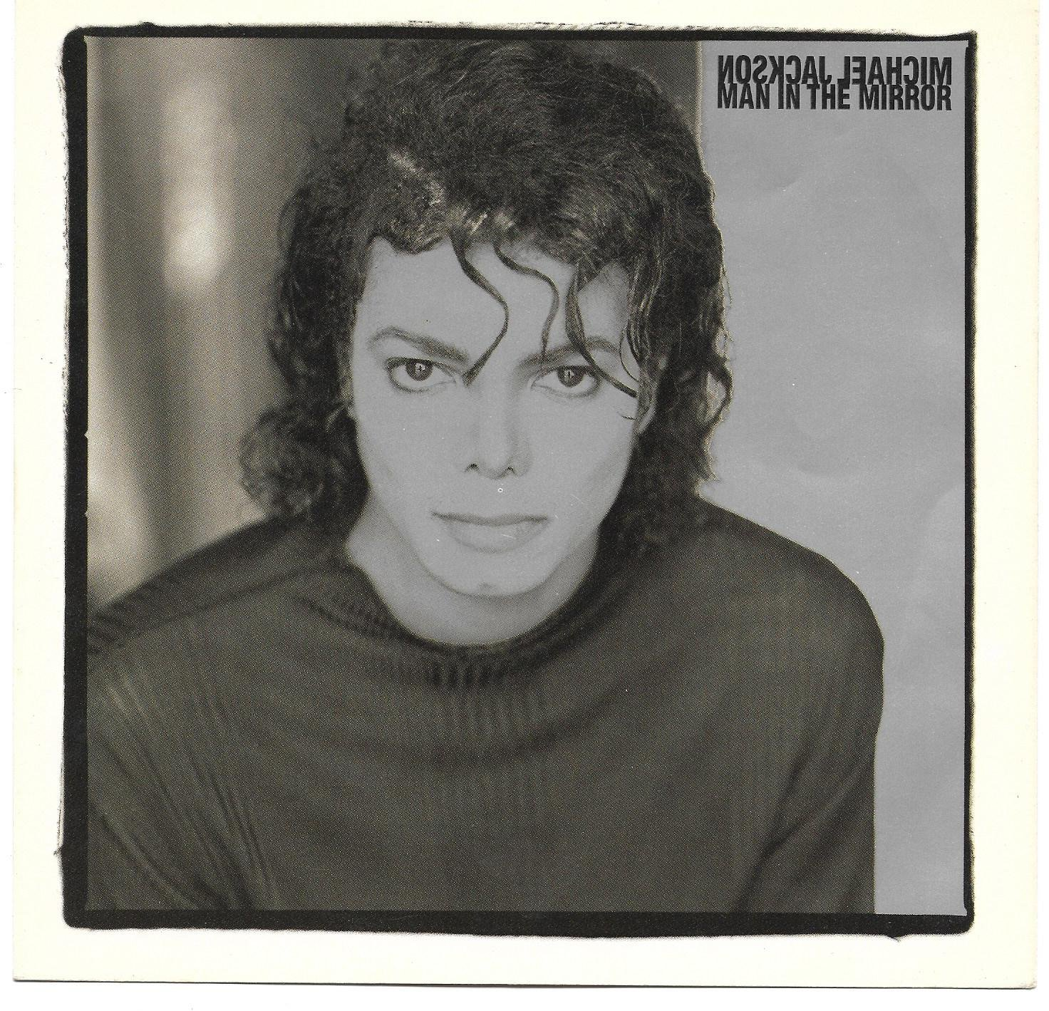 """Picture Sleeve ONLY: Michael Jackson: """"Man In The Mirror"""" - from '88 hit - Nr Mt"""