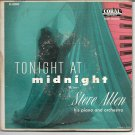"""EP Cover ONLY: Steve Allen: """"Tonight At Midnight"""" - from his rare '55 double EP"""