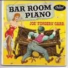 """EP Cover ONLY Joe """"Fingers"""" Carr: """"Bar Room Piano"""" - from his '51 double EP - EX!"""