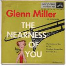 """EP Cover ONLY: Glenn Miller: """"The Nearness Of You"""" - from rare '56 EP - nice!"""