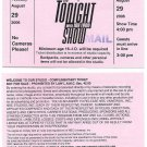 """Jay Leno: """"The Tonight Show"""" Ticket Stub - August 29, 2006 - Excellent Cond'n!"""