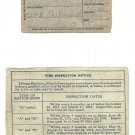 WW II Basic Mileage Gasoline Ration A Card - Very Good Condition!