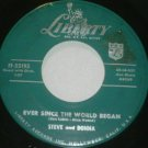 "Steve and Donna: ""Ever Since The World Began"" - rare '59 release - nice/pl well!"