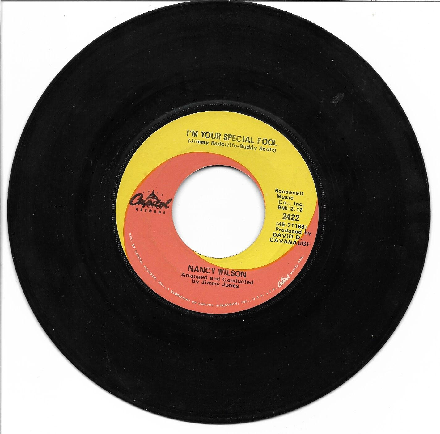 """Nancy Wilson: """"I'm Your Special Fool"""" / """"You'd Better Go"""" - '69 - pl very well!"""