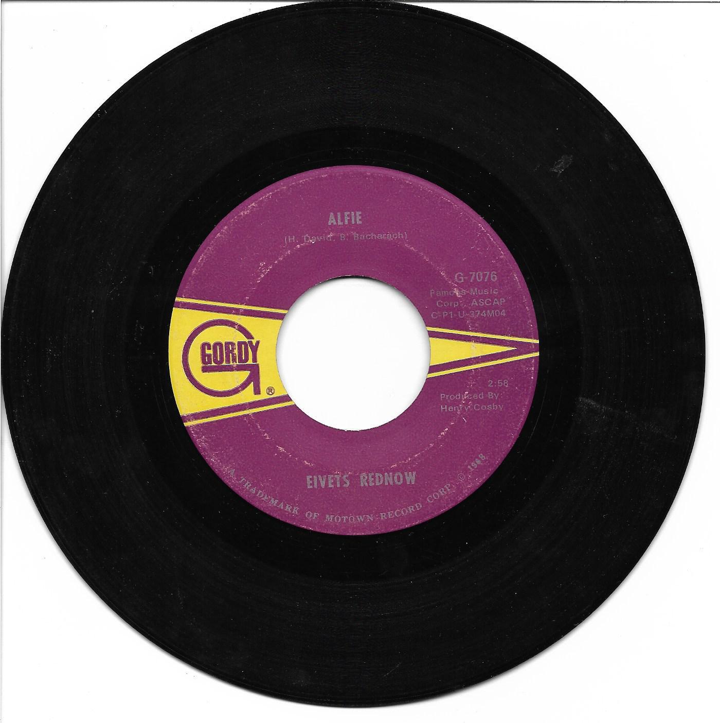 "Eivets Rednow (Stevie Wonder): ""Alfie"" / ""More Than A Dream"" - '67 - pl nicely!"