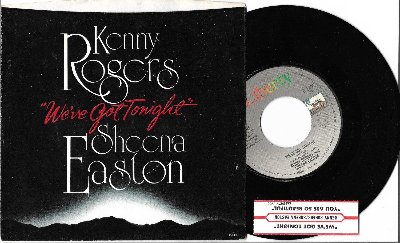 "Kenny Rogers & Sheena Easton: ""We've Got Tonight"" - '83 Pop hit w-Pic Slv - EX!"