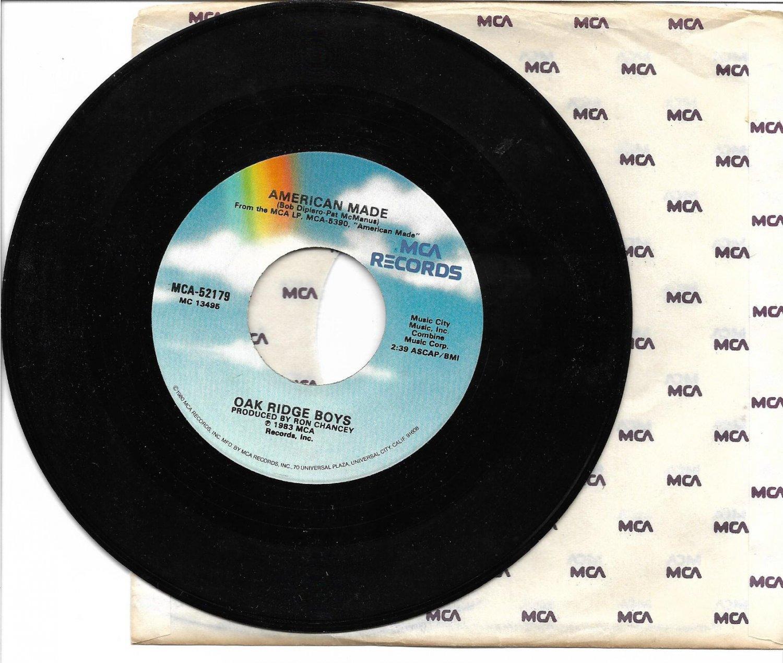 "The Oak Ridge Boys: ""American Made"" / ""Cure For My Broken Heart"" - '83 - plays NM!"
