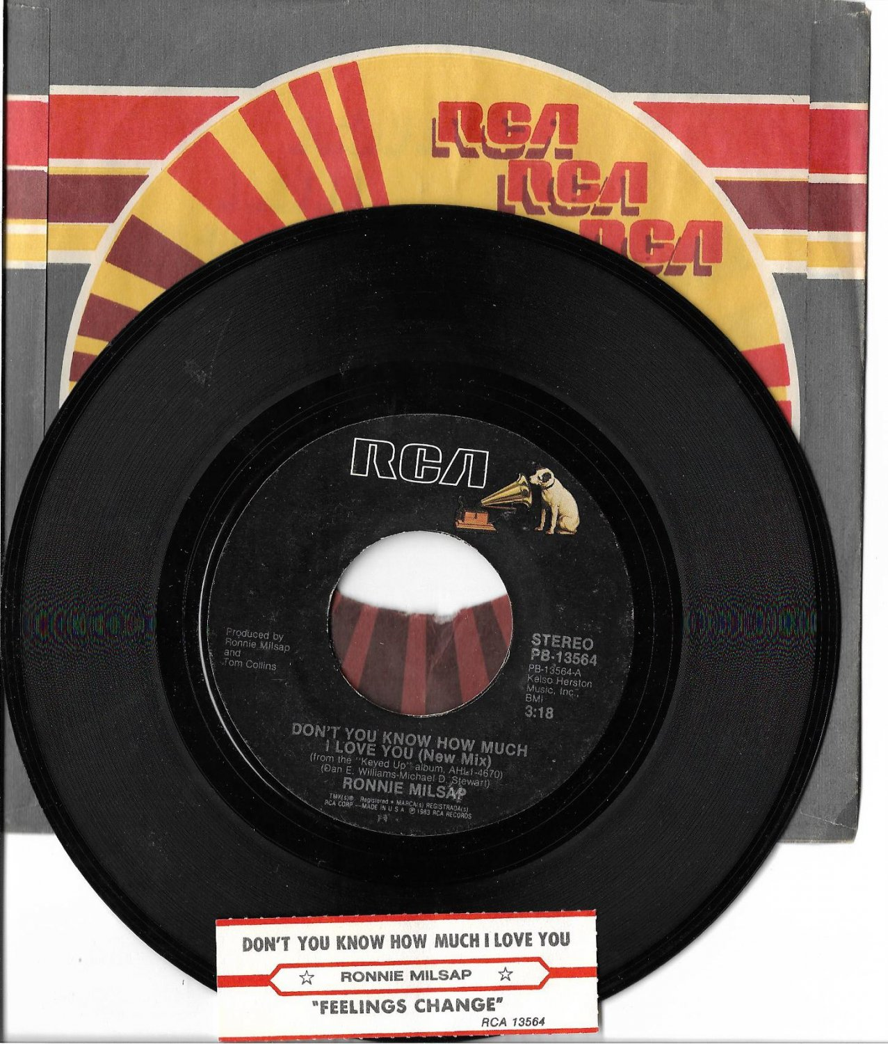 """Ronnie Milsap: """"Don't You Know How Much I Love You"""" - '83 - nice vinyl & juke strip!"""