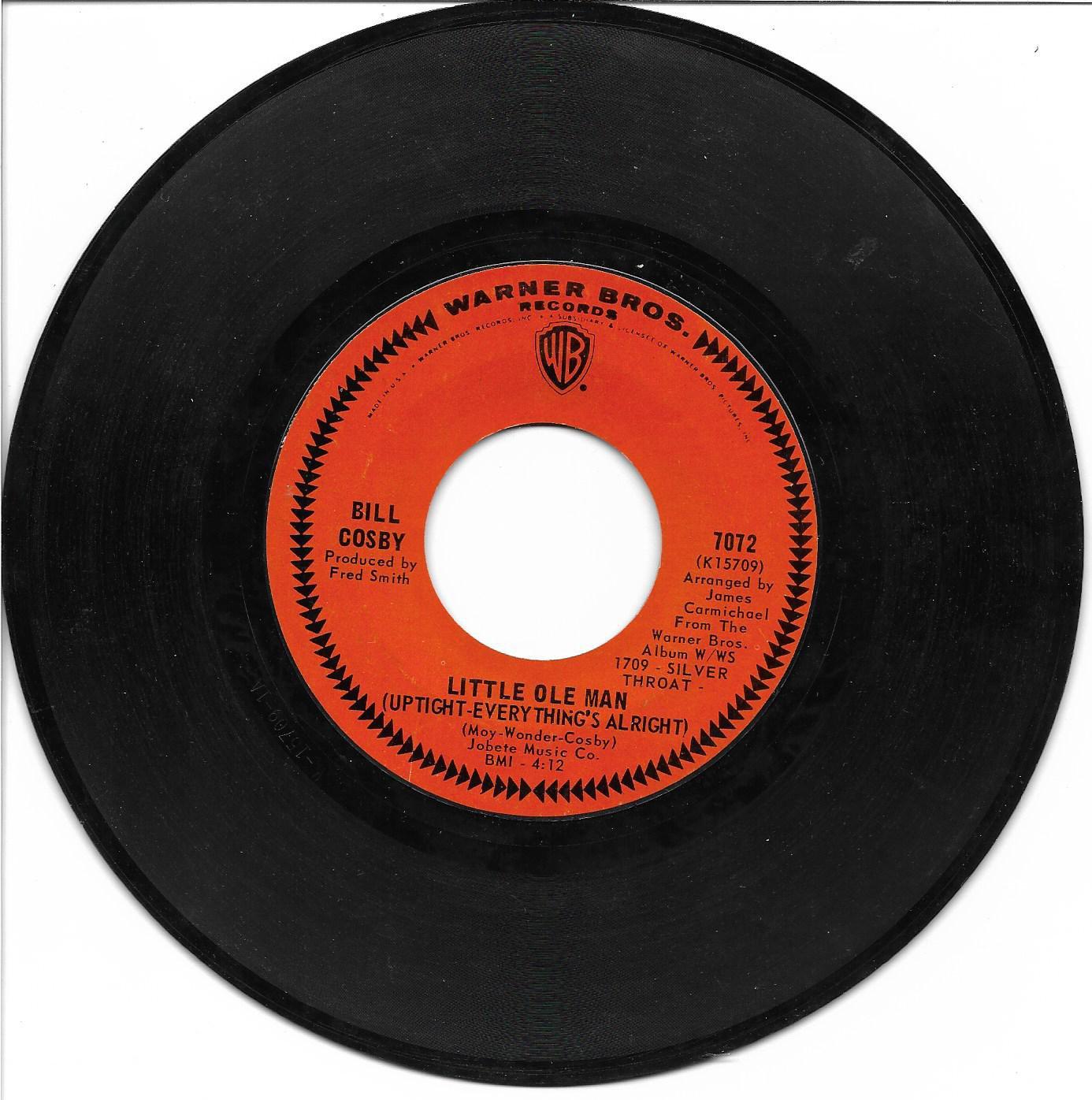 "Bill Cosby: ""Little Ole Man"" / ""Hush Hush"" - '67 Motown style - plays Near Mint!"