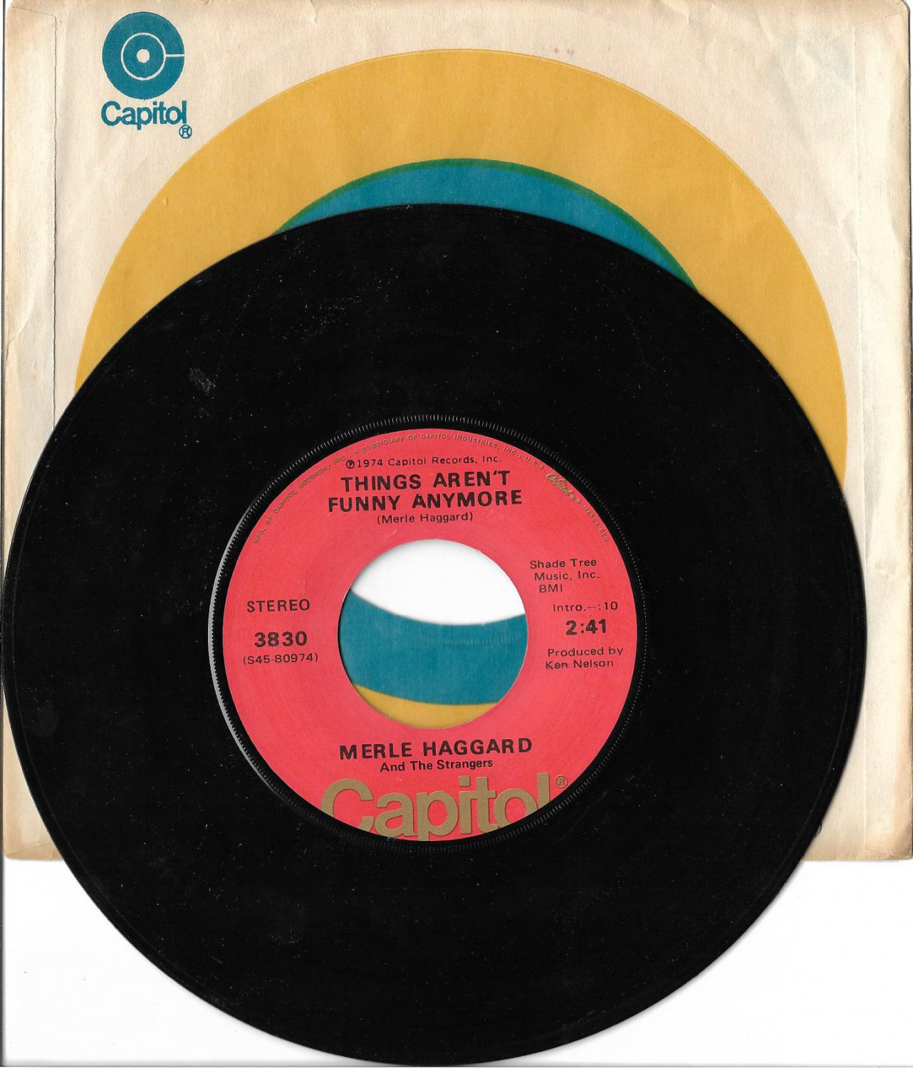 """Merle Haggard & The Strangers: """"Things Aren't Funny Anymore"""" - '74 hit - plays NM!"""