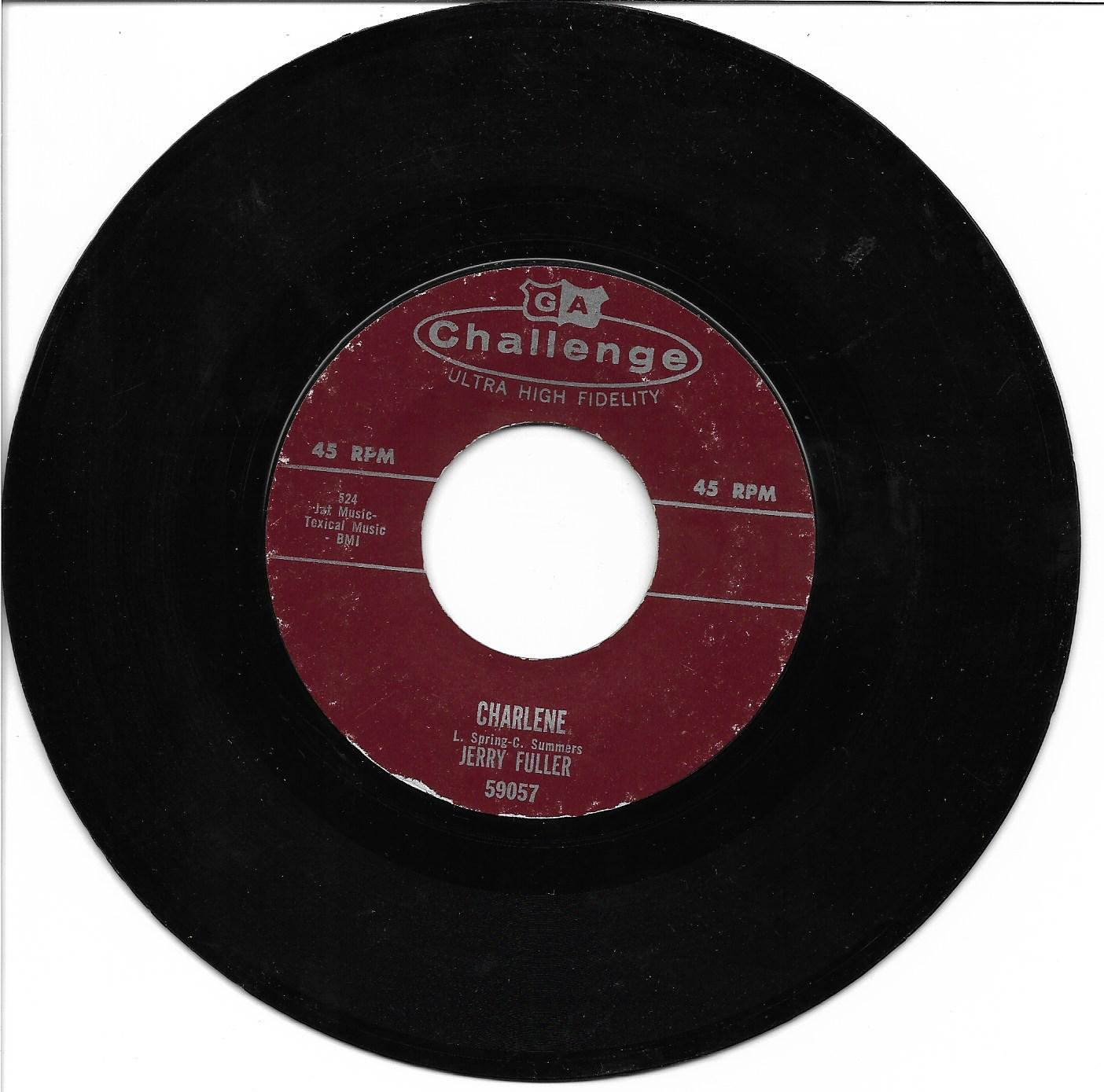 """Jerry Fuller: """"Charlene"""" / """"Tennessee Waltz"""" - rare '59 Rockabilly - plays nicely!"""
