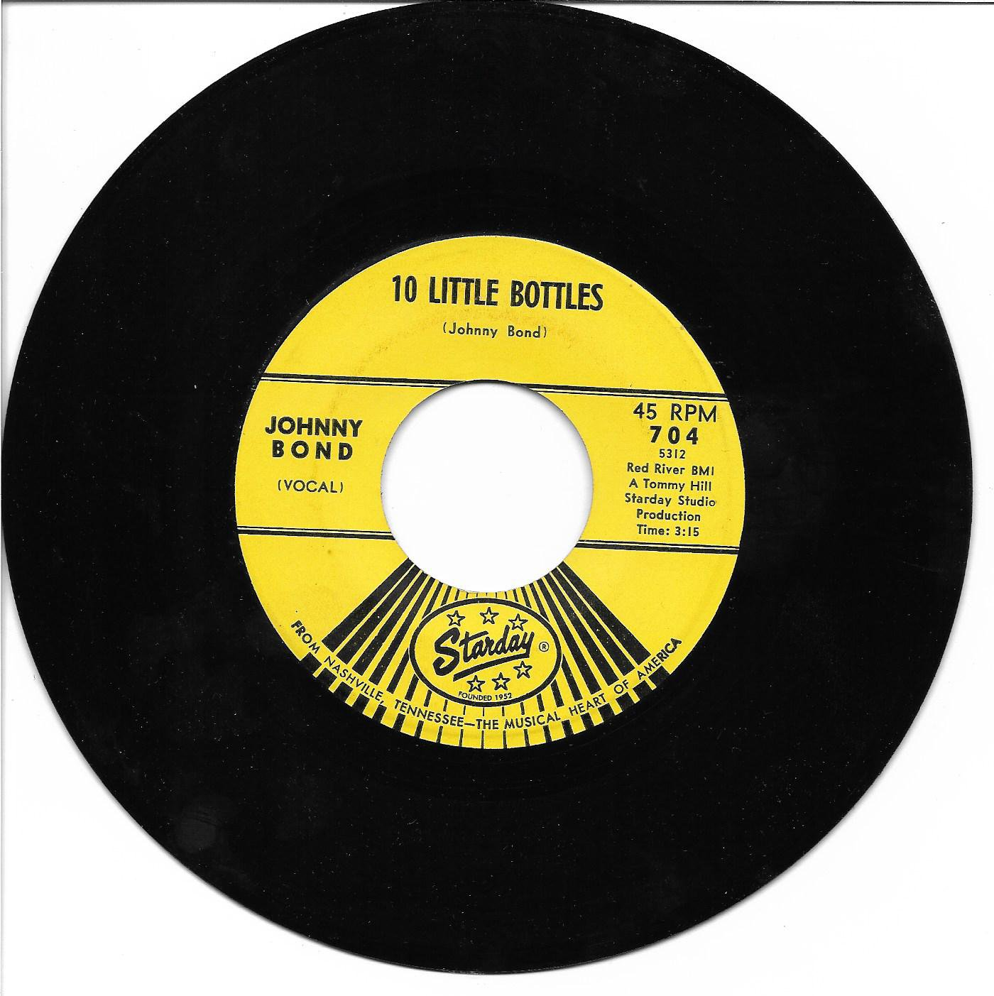 "Johnny Bond: ""10 Little Bottles"" / ""Let It Be Me"" - '65 Country Comedy hit!"