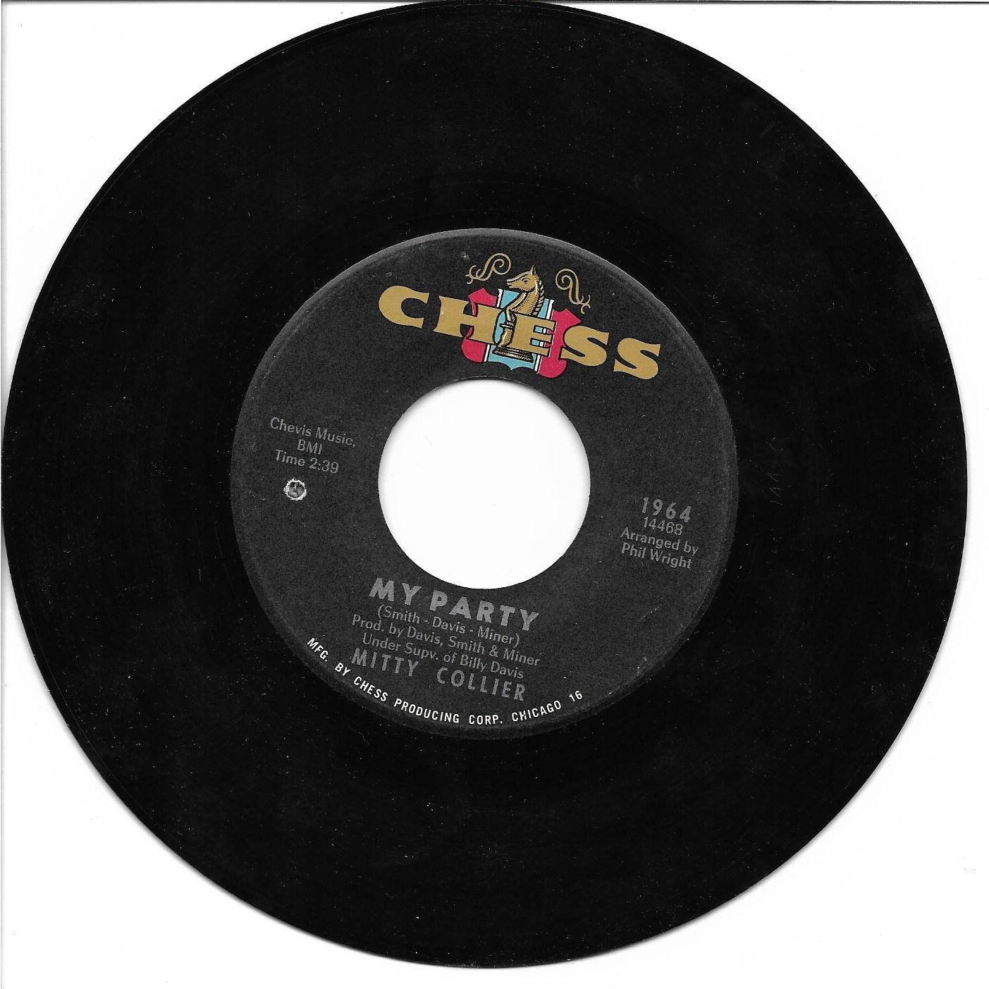 """Mitty Collier: """"My Party"""" / """"I'm Satisfied"""" - her '66 Soul hit - nice - plays NM!"""