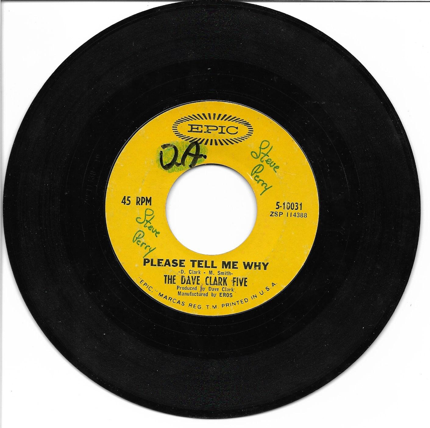 """The Dave Clark Five: """"Please Tell Me Why"""" / """"Look Before You Leap"""" - plays well!"""