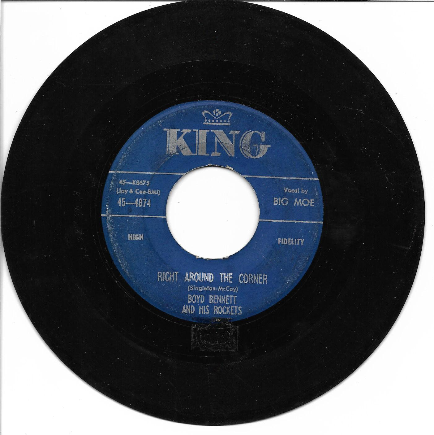 """Boyd Bennett: """"Right Around The Corner"""" / """"Partners For Life"""" - '56 - plays well!"""