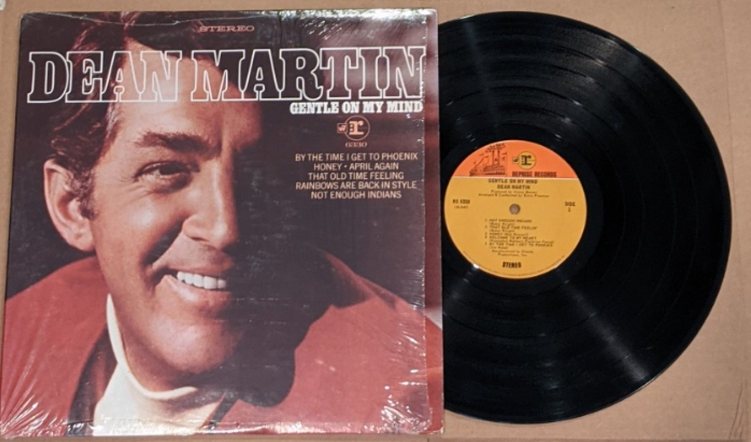 "Dean Martin: ""Gentle On My Mind"" - his '68 LP - VG+ vinyl, NM cover - plays NM!"