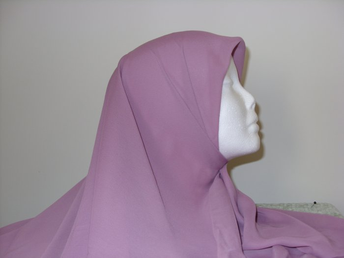rose colored chiffon hijab