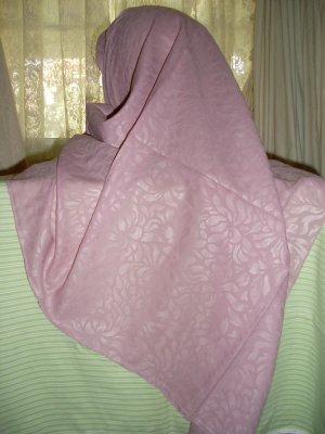 Hijab Rose Pink color soft Damask scarf