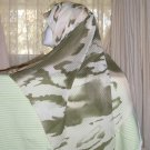 olive and beige abstract print hijab