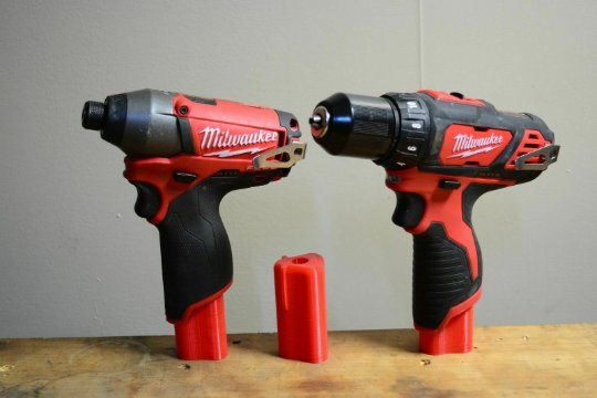 10 Pack Milwaukee M12 Battery Slot Tool Mount