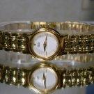 Brand New 2015 Women's Seiko WR100 Gold Watch New Battery. 2 Yr Warranty