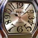 Truce Big Face Watch. Real Leather Band New Service New Battery. 2 Year Warranty