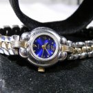 Womens Victoria Rhein Silver & Gold Blue Dial Watch New Battery. 2 Year Warranty