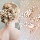 Fashion Bridal Hair Accessories Pearl Flower Hair Stick Pin Wedding Jewelry New