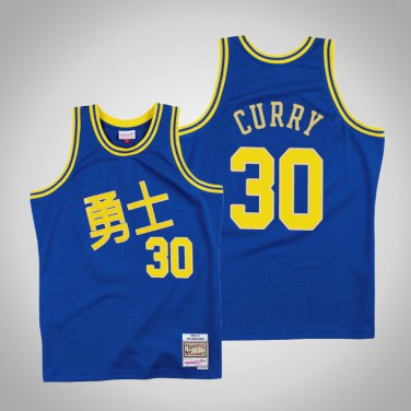 the latest 0623b dcd0a Men's Golden State Warriors #30 Stephen Curry Chinese New Year Jersey Royal  blue
