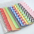 25pcs paper straws Biodegradable