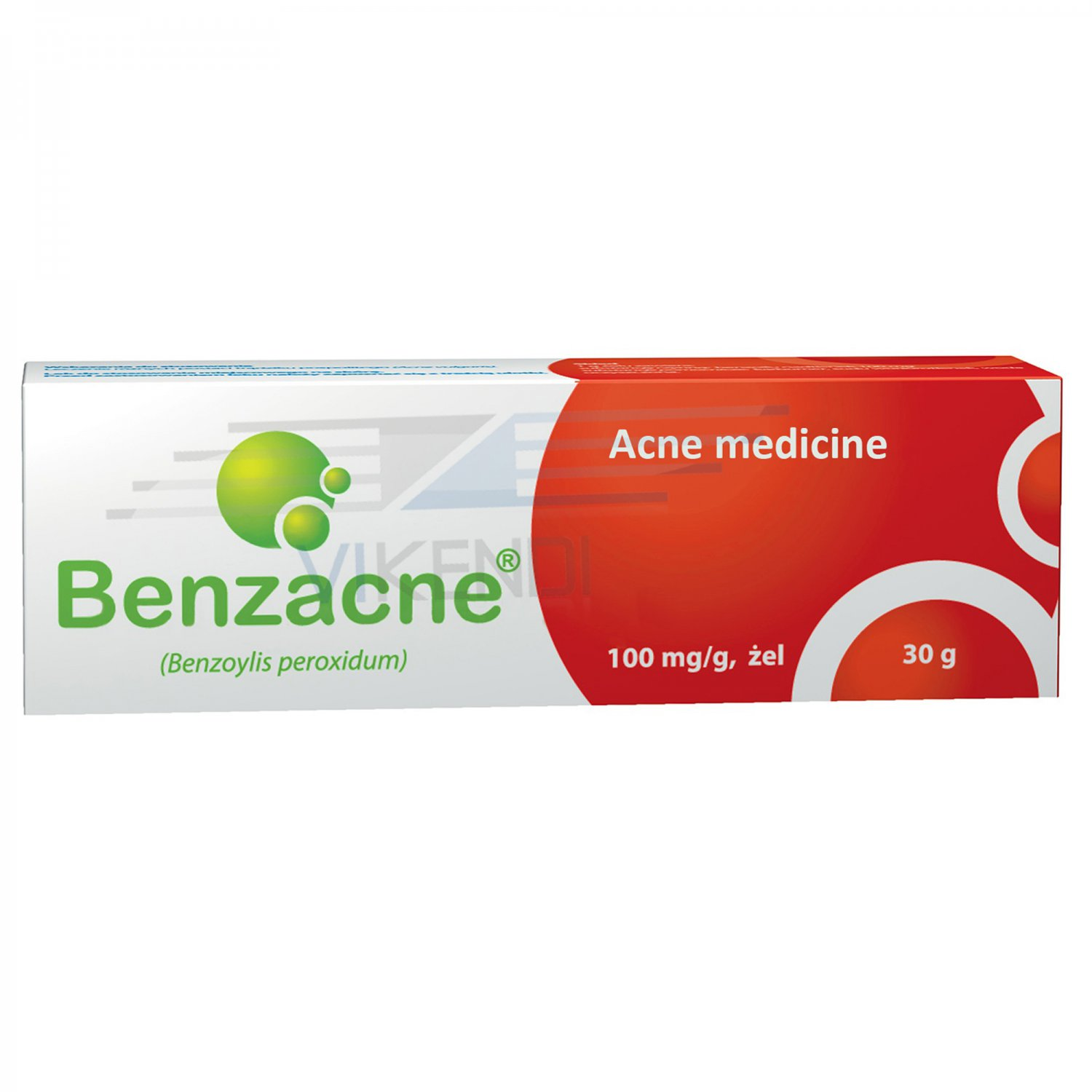 Benzacne Benzoyl Peroxide 10% Skin Acne Blackheads Treatment Gel