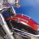 Chrome Front Fender Rail Trim Kit for Harley Davidson motorcycles V-Twin 50-1084