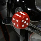 Red Dice Style Shifter Knob   fits harley davidson knucklehead    21-0937