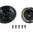 Rear Mechanical Brake Drum Kit Black fits Harley Davidson panhead   23-0876