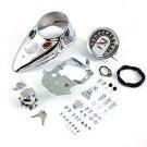 Chrome Cateye Dash Panel Kit fits Harley Davidson panhead shovelhead 39-0900