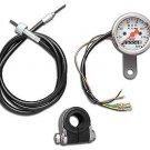 Mini 48mm Speedometer Kit  fits Harley Davidson sportster v-twin 39-0439