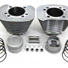 Cylinder and Piston kit silver fits Harley Davidson sportster v-twin  11-0377