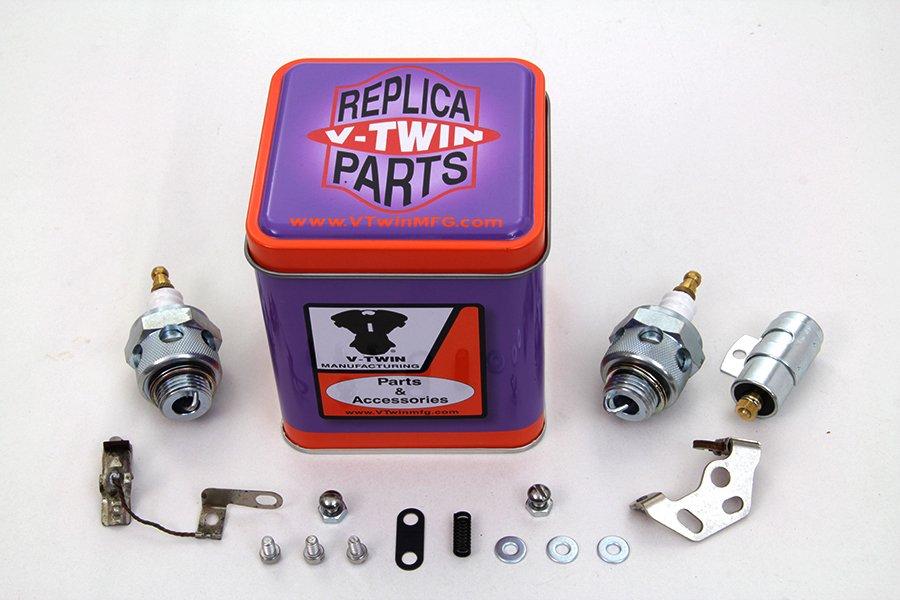Ignition Tune Up Kit  Beck Spark Plug for 1936-1947 EL, W & FL harley 32-1499