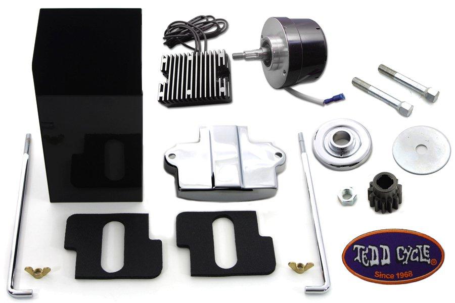 Black 12 Volt Alternator Generator Conversion Kit, 1936-1973 G, W & U
