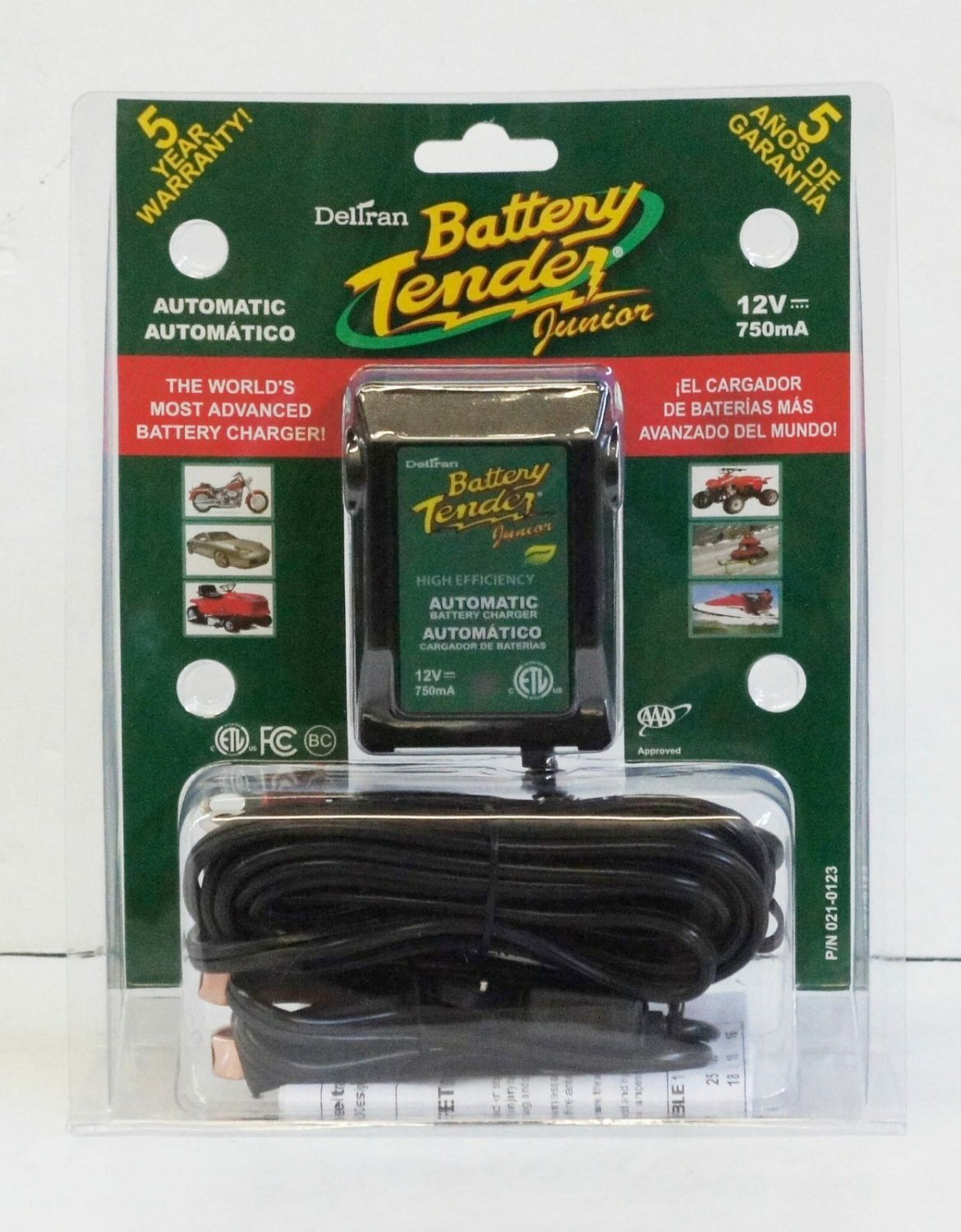 Battery Tender® Junior 12V, 750mA Battery Charger Mantainer Car Motorcycle
