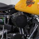 Black 1993-2007 FXD & FXST Mesh Wyatt Gatling Air Cleaner Assembly 34-1607
