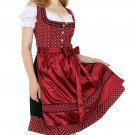 0352 Oktoberfest Bavarian Dirndl Dress 3 pieces - Included apron and white blouse