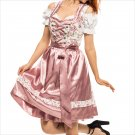 0503 Oktoberfest Bavarian Dirndl Dress 3 pieces - Included apron and white blouse
