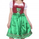 0470 Oktoberfest Bavarian Dirndl Dress 3 pieces - Included apron and white blouse