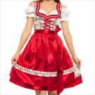 0502 Oktoberfest Bavarian Dirndl Dress 3 pieces - Included apron and white blouse